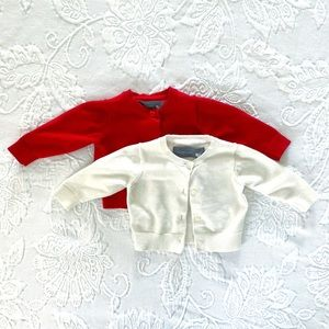 Primary | Set of Two Cardigans (0-6 mos)